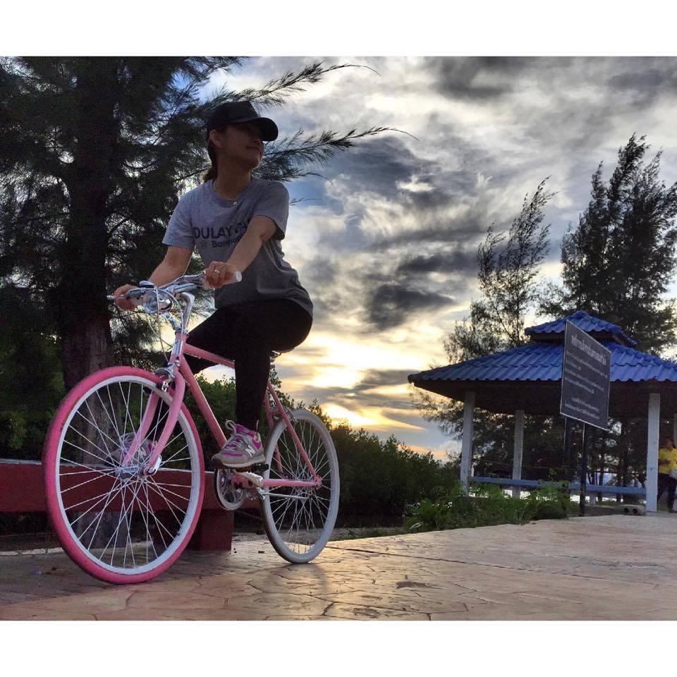 จักรยานผู้หญิง ชมพู ทูโทน