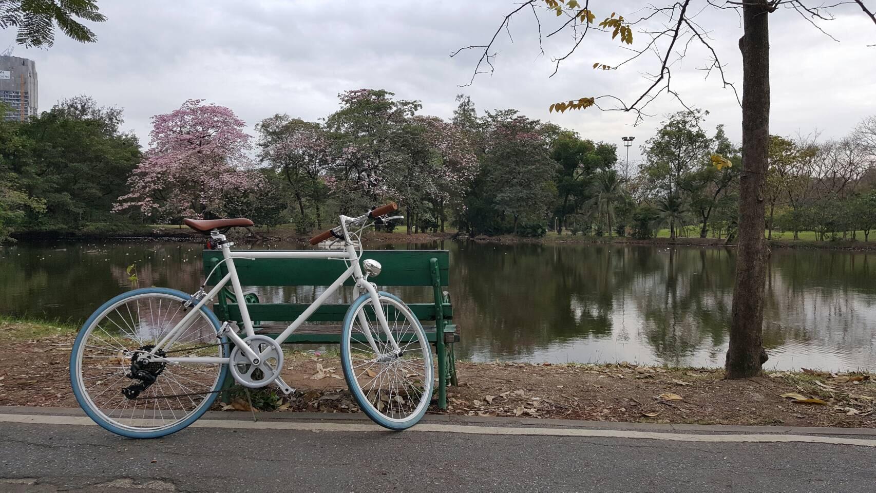 ปั่นจักรยานชิวที่สวนรถไฟ
