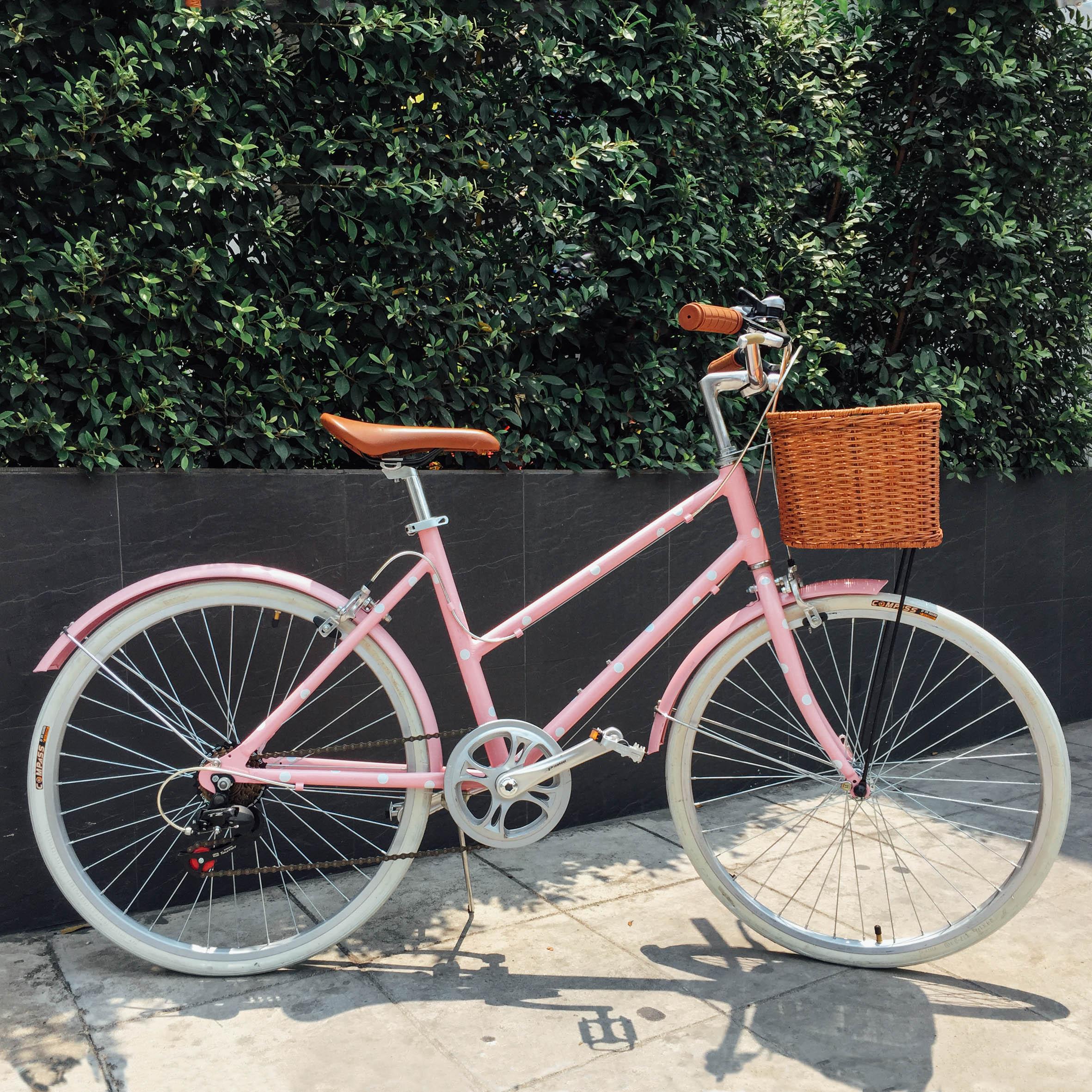 จักรยานผู้หญิง สีชมพู